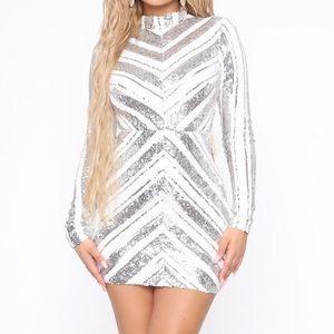 sparkly sliver dress